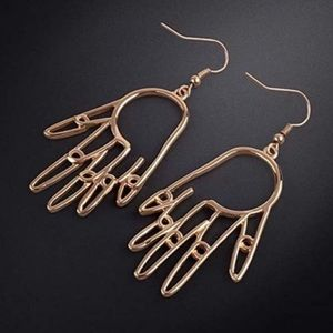 Abstract Hand Statement Geometric Earrings